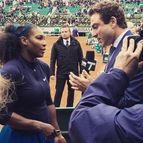 Justin-Gimelstob Interviewing Serena Williams