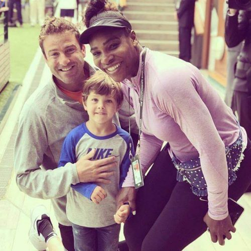 Justin Gimelstob and Serena Williams